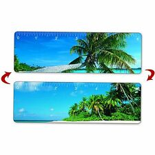 "Tropical Island Hawaii Ruler Bookmark 6""100 pcs Lenticular Flip #RU06-256-100#"