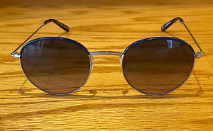 Garrett Leight Cloy 48 Navy-Silver/Denim Wash Gradient Sunglasses