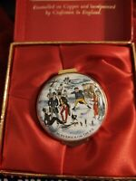 English Enamels by Crummles 1981 Mr Pickwick on Ice The Harrods Christmas Box