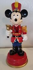 "1990s Disney Store Mickey Mouse Wooden Nutcracker 14"" Vintage Christmas Soldier"