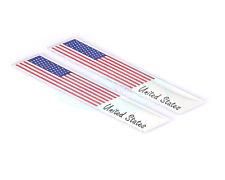 2X Metal United States USA National Flag Decal Emblem Badge Sticker For Chrysler