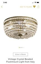 Vintage Crystal Beaded Flushmount From italy