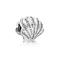 Authentic Pandora Charm  Disney Ariel's Shell with Clear Cubic Zirconia 791574CZ