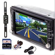 "HD 6.2"" Double 2Din I Dash Car Stereo DVD Player GPS Navigation BT Radio+CAMERA~"