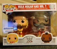 FUNKO POP! WWE: HULK HOGAN AND MR. T WRESTLEMANIA 2-PACK...AMAZON EXCLUSIVE