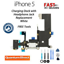 NEW Replacement iPhone 5 Lightning Port/Charging Dock + Headphone Jack - WHITE