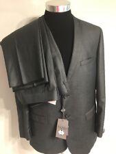 TAZIO Gray New Men's 2 Piece Slim Fit Suit Size 44R