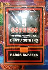 """100 Booklets Brass smoking pipe screen 3/4"""" ea 5 pcs, Glass Water, 500 screens"""