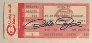 PETE ROSE Auto JSA Signed Ticket Stub All Time Hits Record Ty Cobb Sept 11 1985