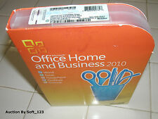 MS Microsoft Office 2010 Home and Business Licensed For 2 PCs Full Retail Box