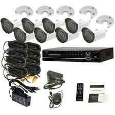 8 CH  DVR Surveillance Security System Weatherproof  720P IR Cameras Kit 1TB HDD