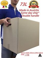15 x Moving Cardboard Packing Boxes 73Litres Cartons With Handles-Same day Post