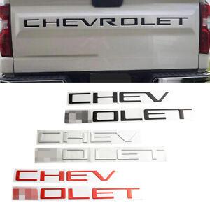 Tailgate Letter Inserts for 2019 2020 Chevrolet Silverado 1500 2500 3500 Multis