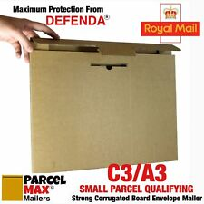 25 x A3 C3 SMALL PARCEL CARDBOARD ENVELOPES PARCELMAX Mailers NOT Hard Backed