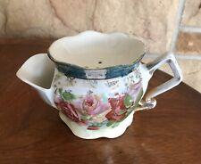 Antique Victorian German Porcelain Footed Shaving Scuttle Mug Cup