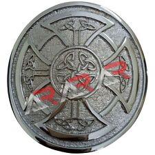 Buckle Chrome Finish/Highland Belt Buckle Celtic Aar Round Celtic Knot Kilt Belt