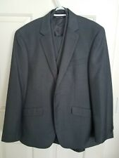 Kenneth Cole Shark Skin Grey Slim Suit 3 Piece With Vest Small S 36S 36 Short Pa
