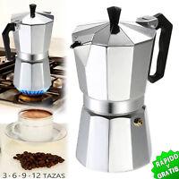 CAFETERA EXPRESSO CLASICA MOKA ITALIANA ALUMINIO 3 6 9 Y 12 TAZAS COFFEE MAKER