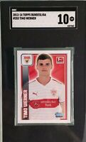 Timo Werner 2013-14 Topps Bundesliga Stickers #253 Rookie SGC 10 Gem Mint
