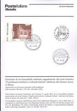 ITALIA 2001 DOMUS AUREA IN ROMA  BOLLETTINO COMPLETO DI FRANCOBOLLI FDC