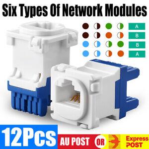 12Pcs Clipsal Compatible Style CAT6 RJ45 8P8C Network Data Jack Mech Insert AU