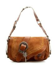 Christian Dior Brown Suede & Leather Gaucho Saddle Bag