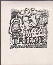 ex-libris biblioteca del popolo Trieste par ercolani