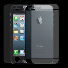 1 Pack Clear LCD Front+Back Screen Protector Cover Guard Film For iPhone 5 5S