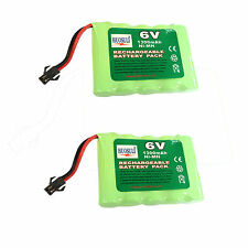 2 pcs 6V 1300mAh Ni-MH Rechargeable Battery Cell Pack Toy RC