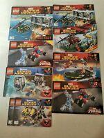 Lego Superheros Build Manuals Bundle 7 Manuals Only