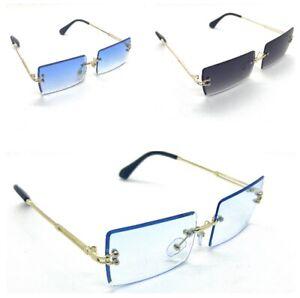 Sonnenbrille Randlos Durchsichtig Rechteckig Modern100% UV400 Unisex Fashion