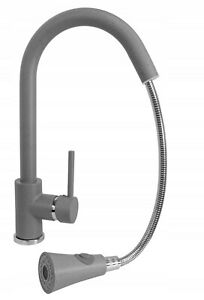 Grey Kitchen Mixer Tap Sink Faucet Pull Out Spout Swivel  360` Brass 174