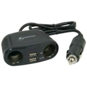 Mobilespec MS431USB 12v 2-way Adapter With 2 Usb Ports