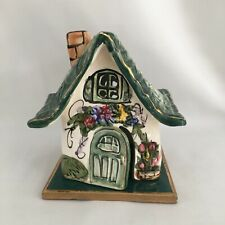 Blue Sky Clayworks Heather Goldmine 2000 Green Cottage House and Base