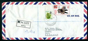 1974 Figi Cover Registered Suva. Chinese New Year, Flowers