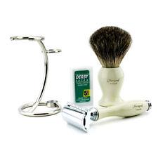 Super Badger Premium Shaving Set >> DE Safety Razor, Super Badger Brush & Stand
