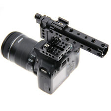 US DSLR Top Handle Rig Plate Cold Shoe 15mm Rod Clamp for Canon 60D Sony A7II