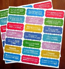 New 42 Inspirational Colorful Scripture Stickers Acid Free 21 Bible Verses