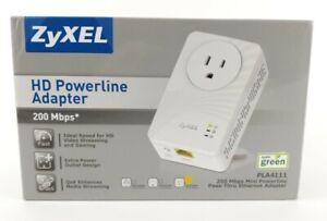 ZyXEL PLA4111 200 Mbps Mini Powerline Pass-Thru Ethernet Adapter