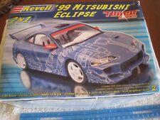 "2004 Revell 1:25 plastic, ""99 Mitsubishi Eclipse"" Built import model Car,Cool.!!"