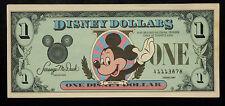 {BJSTAMPS} 1987 Disney Dollars $1 MICKEY Castle LOW Numbers