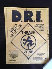 DRI - Thrash Zone - New LP - MTV Headbanger's Ball - 1989
