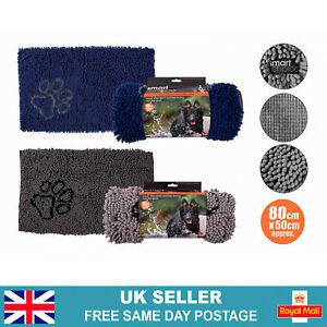 Microfibre Super Absorbent Noodle Mat | Non Slip Back For Pets Dog Cat Towel Bed