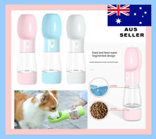 2 in1 Puppy Dog Cat Pet Water Bottle Cup Drinking Travel Outdoor Portable Feeder