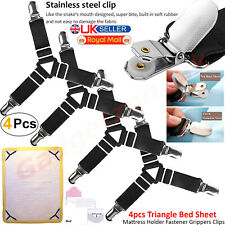 4 PCS TRIANGLE BED SHEET MATTRESS HOLDER FASTENER GRIPPERS CLIPS