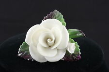 CARA CHINA STAFFORDSHIRE MADE IN ENGLAND FLOWER BROOCH SIGNED FASHION 3633 VNTG