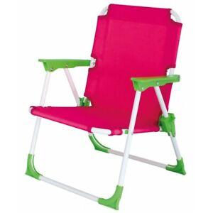 Eurotrail Foldable Portable Camping Garden Beach Chair For ChildrenKid PinkGreen