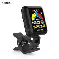 AROMA AMT-100 Rechargeable Clip-on Electronic Tuner Metronome+USB Cable L9Y3