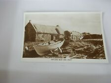 More details for postcard  p10 a7   shetland boat and croft