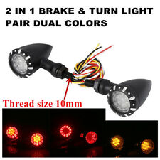 2xRed/Yellow 4 Wires Bullet Brake Running Turn Signal Tail Light For Motorcycle